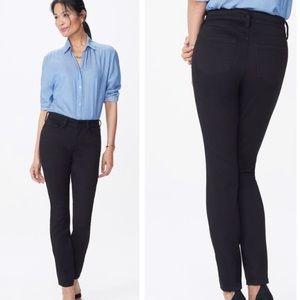 Nydj alina black super skinny legging jeans 00